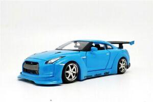 Maisto 1:24 NISSAN GTR GT-R R35 Tokyo Mod Diecast Model Racing Car Blue IN BOX