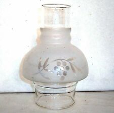 "Fancy Oil Lamp Chimney-6-7/8"" tall/4-3/4"" bulb/3"" fitter - EUC"