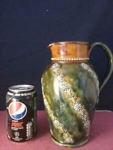 Stylish Large  Royal  Doulton  Tactile Water Jug Applied Decoration   Artist CP