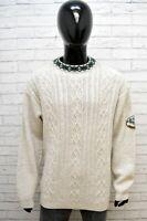 Invicta Maglione Uomo Pullover Lana Taglia 2XL Sweater Casual Cardigan Grigio