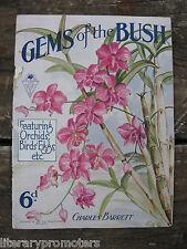 GEMS OF THE BUSH CHARLES BARRETT Featuring Orchids Birds' Eggs Sun Nature Book 5