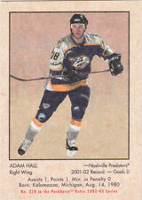 02-03 Parkhurst Retro Adam Hall /300 Rookie