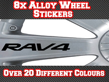 8x Toyota Rav4 Vinyl Stickers Decals for Alloy Wheels Door Handles Mirrors