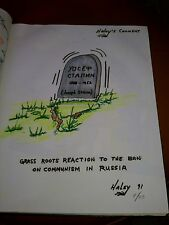 Signed Original Political Art from 1980s-1990s Grass Roots Russia Commentary-b2