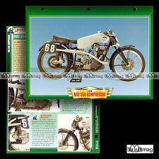 #070.12 Fiche Moto NSU 350 KOMPRESSOR 1939 Racing Motorcycle Card