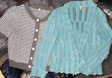 "Anthropologie ""Moth"" Brand LOT of 2 Women Medium B/F Cardigan Sweaters (LCM 38)"
