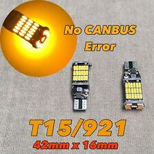 Reverse Backup light T10 T15 921 168 194 175 AMBER CANBUS T45 LED Bulb W1 J