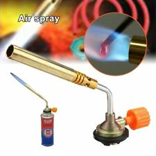 Flamethrower Burner Butane Gas Blow Torch Ignition Welding Camping BBQ Baking AL