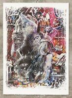 PICHIAVO et VHILS - Triumph - (Obey, Banksy,c215,invader, artsper) Lithographie