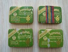4 Vintage Rare Swiss Diamant Sonora Gramophone Phonograph  Needles Tin box  Full
