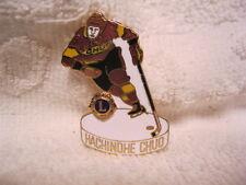 Lions Club Pin Japan Hockey Player CHUD Hachinohe  CHUD is on his shirt RARE