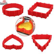 Baking snakes 4 pcs/set Magic Cake Mold Silicone Red Snake Bread Cake Pan Square
