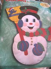 Bucilla Christmas Holiday FELT Applique Craft KIT,SNOWMAN,Wall,Door,Large,#84139