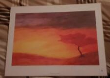 """Large African landscape Art Print 16"""" X 12"""" silent valley By Laffanki NEW"""