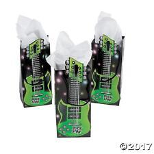 Paquete De 6-Guitarra de papel en forma de estrella de rock Tratar Bolsas