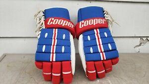 Vtg cooper adult hockey gloves