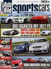 Auto Bild Sports Cars 10 07 2007 Abt S3 Brabus Bullit Geiger Ford GT Lumma CLK63