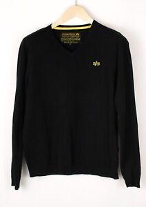 ALPHA INDUSTRIES Men Casual Knit Jumper Cardigan Size M BDZ975