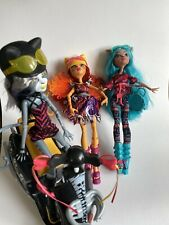 Monster High Muñecas Gato trío con Scooter
