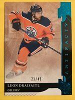 2019-20 Upper Deck Artifacts Aqua #144 Leon Draisaitl 23/45 Edmonton Oilers SP