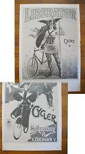 "1973 PRINT/POSTER/AD~1900 HUMBER'S DANISH BICYCLES~1900 LIBERATOR BIKES~16""x11"""