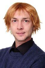Herren Männer Perücke Wig kurz voluminös gescheitelt blond erdbeerblond GFW1843
