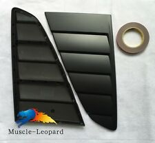2015 2016 2017 Mustang Cervini Style Window Louvers Matte Black Painted