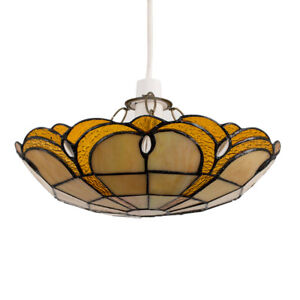 MiniSun Ceiling Light Shade - Tiffany Style Pendant Stained Glass Home Lighting