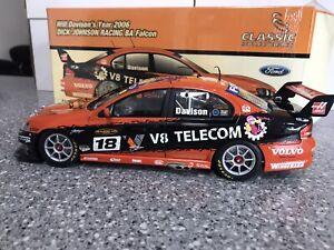 1:18 DJR Will Davison 2006 V8 Telecom Ford BA Falcon V8 Supercar-SIGNED