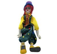 "GANZ Vintage Porcelain Ceramic Freestanding Poseable Circus Clown Doll 15"" Tall"