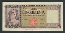 Italy Lire 500 qFDS / aUNC ORNATA di SPIGHE W Serie Speciale Decr. 20-03-1947