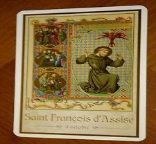 SAINT FRANCOIS D'ASSISE 4 OCTOBRE_ IMAGE PIEUSE avec prière (card 7x12 cm)