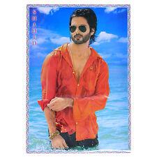 Poster Shahid Kapoor im nassen roten Hemd 75 x 50 cm Bollywood Star Schauspieler