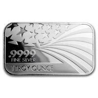 Solid Silver - AMERICAN FLAG - Commemorative: 1 oz. .999 Pure/Solid Silver Round