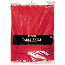 Amscan - Faldón de mesa color rojo (77025-40a)