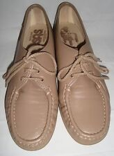 SAS Tripad Comfort Siesta Oxfords Beige Leather Shoes 9.5S 9.5 S Slim