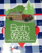 BATH & BODY WORKS DIE CUT GIFT CARD HOLIDAY 2018 CHRISTMAS TREE CAR NO VALUE NEW