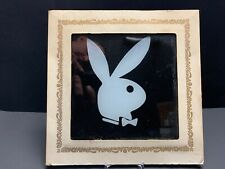 PLAYBOY BUNNY CARNIVAL GLASS tile 6 X 6 COLLECTIBLE RARE VINTAGE
