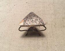 Antique German 800 Silver Cherub Putti Miniature Triangular Ornate Table