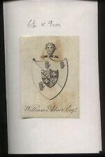 More details for 18th - 19th century ex libris book plate -william adair