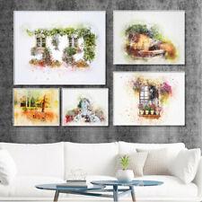 Beautiful Garden Windowsill Canvas Poster Frameless Picture Wall Home Art Decor