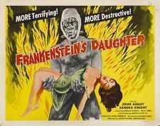 Frankensteins Hija Cartel 02 Letrero De Metal A4 12x8 Aluminio