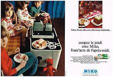 Publicité Advertising 1970 (2 pages) Les Glaces Miko