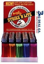 Strike 'n Lite 50 Cigarette Lighter Disposable Classic Lighters Wholesale Packs