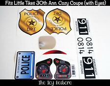 Police Car Replacement Decal Stickers fits 30th Little Tikes Cozy Coupe Badge