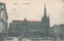 Ak, Wk1, Liege, Cathedrale, Feldpost,  1914,  (N)1876