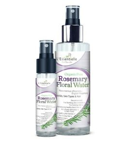 Organic 100% Rosemary Floral Water DUO 30ml &150ml Good scalp and hair health