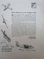 11/1961 PUB PIAGGIO OF GENOA AVION PIAGGIO P.166 AIRCRAFT FLUFZEUG ORIGINAL AD