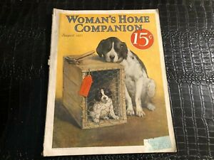 AUGUST 1923 WOMANS HOME COMPANION vintage magazine - Great DOG cover art