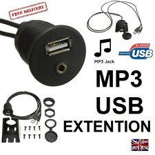 MOTORHOME Dashboard Flush Mount USB + MP3 CAR LORRY Self Build CAMPER 12V 24V